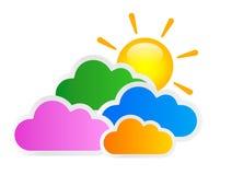 Zon en Wolken Royalty-vrije Stock Foto