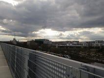 Zon en wolken in Ingelheim Stock Afbeelding