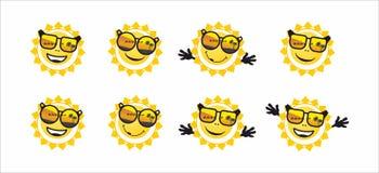 Zon en zonnebril Stock Afbeelding