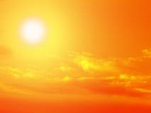Zon, hemel en wolken Stock Foto