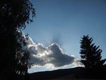 zon het breken van de wolken Royalty-vrije Stock Afbeeldingen
