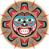 Zon - Inheemse Amerikaanse Stijl royalty-vrije illustratie