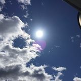 Zon macht-blauw hemel-2 Royalty-vrije Stock Foto