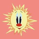 Zon met rode neus Vector Illustratie