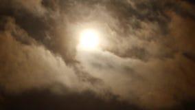 Zon met Wolken Stock Afbeelding