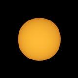 Zon met zonnevlekken met telescoop worden gezien die Royalty-vrije Stock Foto's