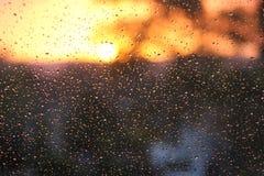 Zon na regen Stock Afbeeldingen
