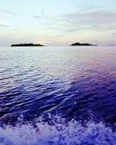 Zon Oceaan visserij royalty-vrije stock afbeelding