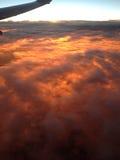 Zon onder de wolken Stock Foto's