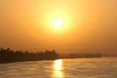 Zon op de Nijl stock foto's