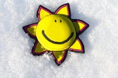Zon op de sneeuw Stock Afbeelding