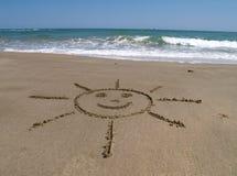 Zon op het strand Stock Afbeelding