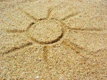 Zon op het zand Royalty-vrije Stock Afbeelding