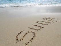 Zon op overzees zand Stock Foto's