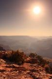 Zon over de Grote Canion royalty-vrije stock fotografie