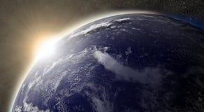 Zon over Vreedzame oceaan Royalty-vrije Stock Afbeelding
