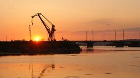Zon overzeese haven Royalty-vrije Stock Afbeeldingen