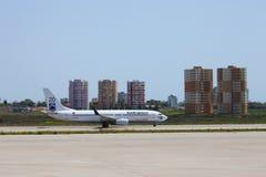 Zon Uitdrukkelijke Luchtvaartlijnen Royalty-vrije Stock Foto's