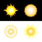 Zon. Vector pictogrammen Royalty-vrije Stock Afbeelding