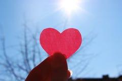 Zon verwarmend hart Stock Foto's