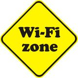 Zon Wi-Fi Arkivfoton