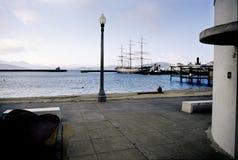 Zona acquatica & pilastro della via del Hyde, San Francisco, California, S.U.A. Immagine Stock