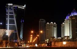 Zona ad ovest Doha degli hotel della baia Immagini Stock
