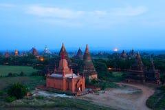 Zona archaeological de Bagan, Myanmar Fotografia de Stock