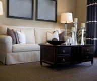 Zona attraente della stanza di seduta con il sofà Fotografia Stock