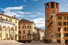 Zona centrale della città di Udine, regione del Friuli Venezia Giulia, Italia Immagine Stock