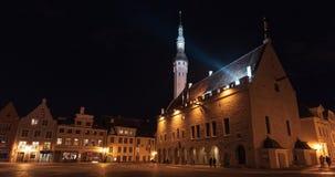 Zona centrale di vecchia città di Tallinn, Estonia fotografia stock libera da diritti