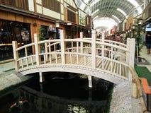 Zona commerciale allo stile giapponese del villaggio del parco di Paseo fotografia stock libera da diritti