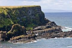 Zona costera cerca del terraplén y de los acantilados, Irlanda del Norte de Giants Imagenes de archivo