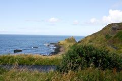 Zona costera cerca del terraplén y de los acantilados, Irlanda del Norte de Giants Imágenes de archivo libres de regalías