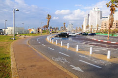 Zona costera de Tel Aviv Imágenes de archivo libres de regalías