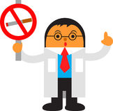 Zona in cui è vietato fumare Fotografia Stock Libera da Diritti