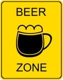 Zona da cerveja - sinal Fotografia de Stock Royalty Free