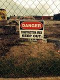 zona da construção Fotografia de Stock