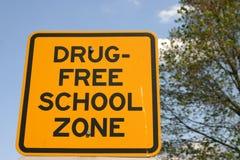 Zona da escola livre da droga Fotos de Stock Royalty Free