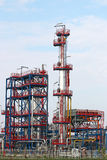 Zona da indústria da instalação petroquímica Foto de Stock