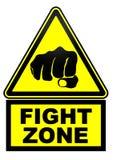 Zona da luta Sinal de aviso ilustração do vetor