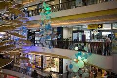 Zona da venda da promoção no festival central Chiang Mai Foto de Stock Royalty Free