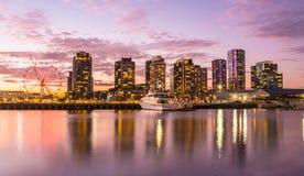 Zona das docas, Melbourne, Austrália imagem de stock royalty free