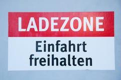 Zona de cargamento alemana de la muestra Fotografía de archivo