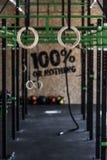 Zona de Crossfit no gym Fotografia de Stock