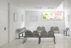 Zona de espera del edificio público Detalle del interior del hospital nadie imagen de archivo libre de regalías