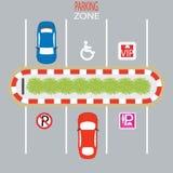 Zona de estacionamento Ilustração Royalty Free