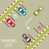 Zona de estacionamento conceptual Ilustração Stock