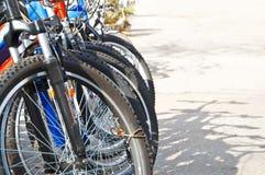 Zona de estacionamiento de la bicicleta Imágenes de archivo libres de regalías