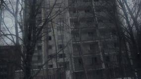 Zona de exclusión de Pripyat Chernóbil del fantasma en el invierno metrajes